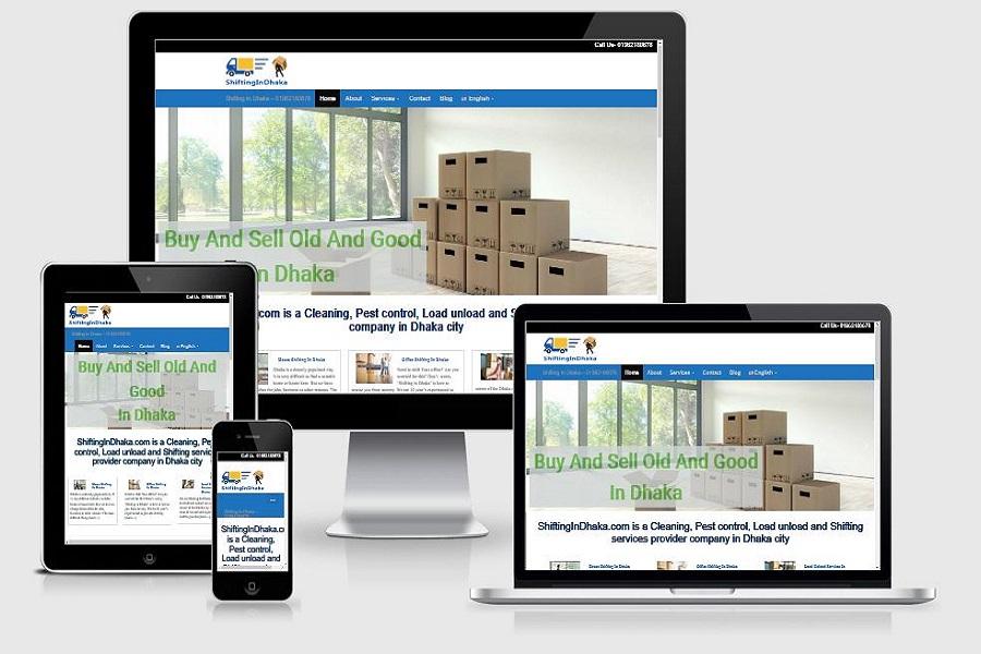 shiftingindhaka.com website design