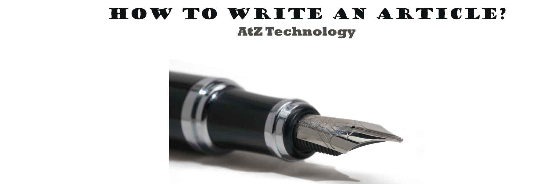 How to Write an Article?