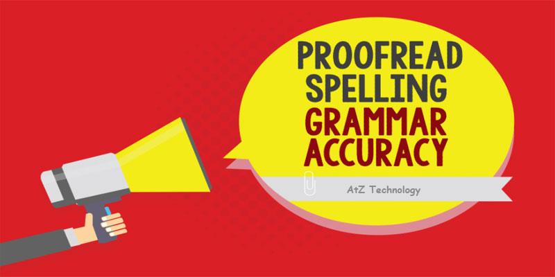 Correct Grammatical |  Copywriting