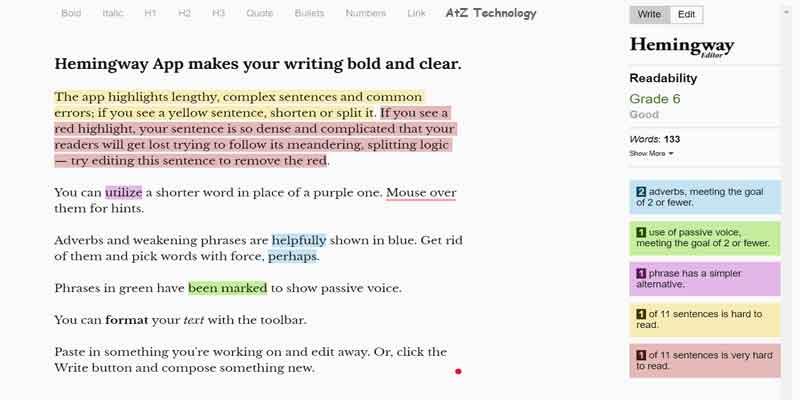 Hemingway App | Copywriting Tools