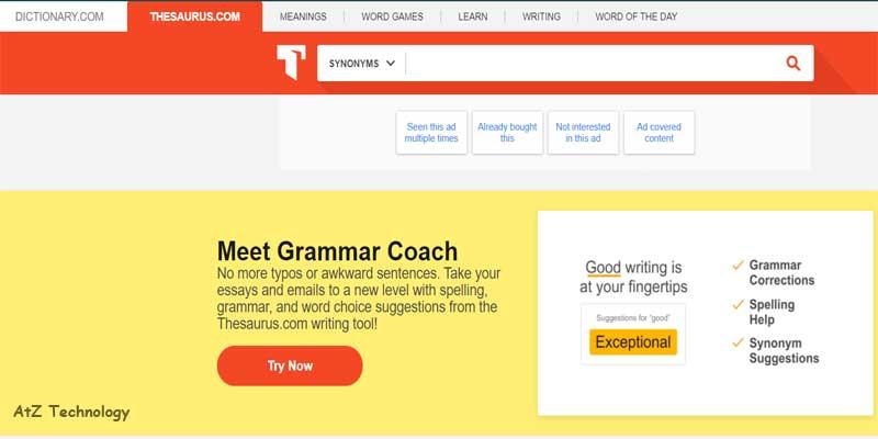 Thesaurus | Copywriting Tools