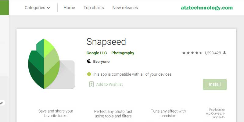 Snapseed - Best Photo Editing Softwares 2021