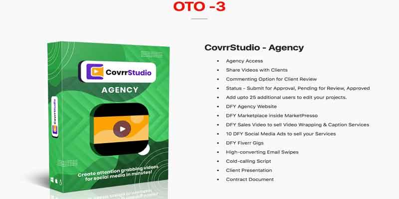 CovrrStudio Review  OTO - 3