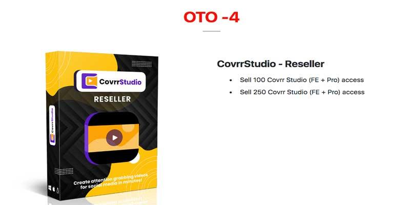 CovrrStudio Review  OTO - 4 Price