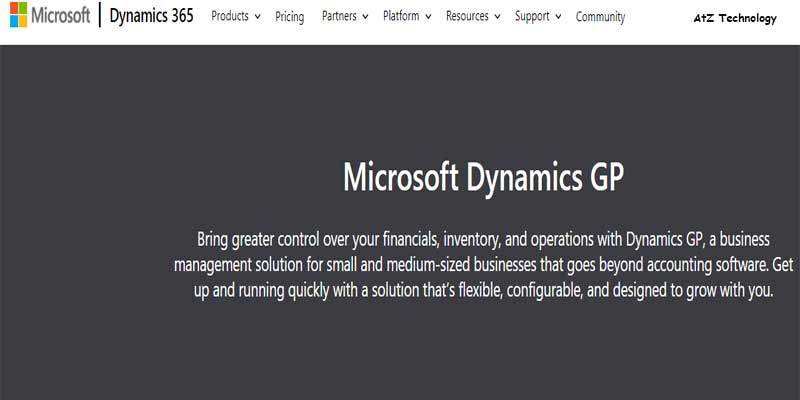 Microsoft Dynamics GP Accounting Software
