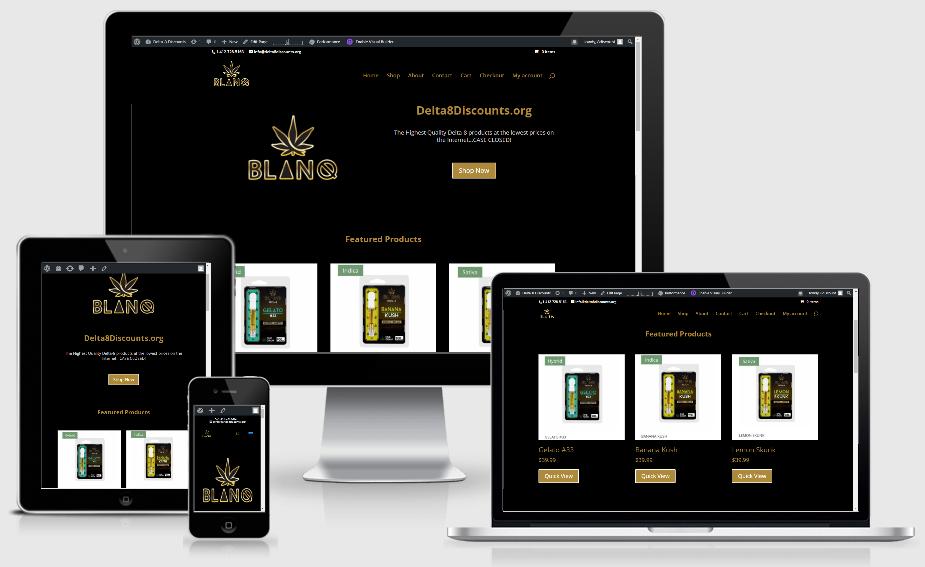 blanqextracts.com website design
