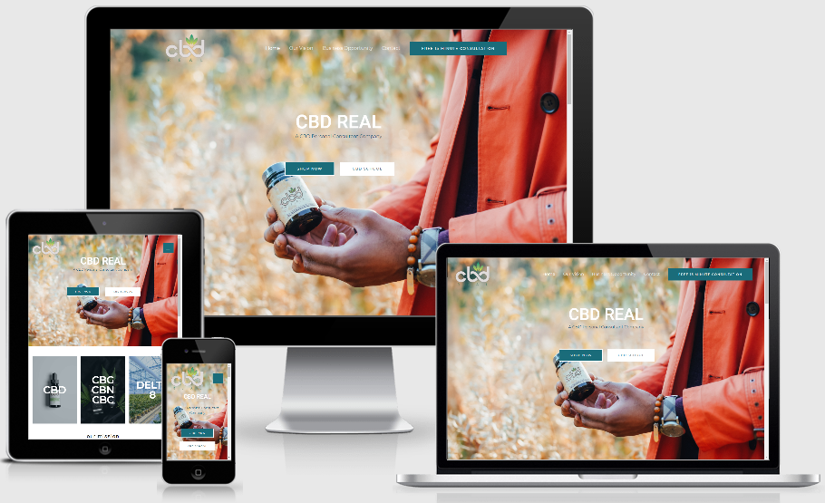 cbdreal.co website design