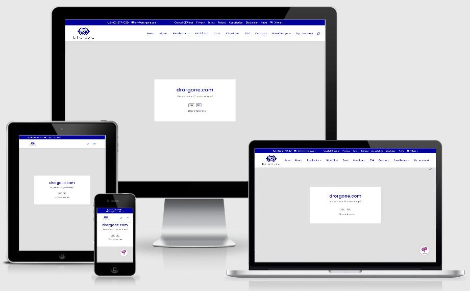 drorgone.com website design