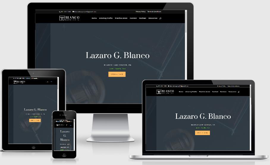blancolawcenter.com website design
