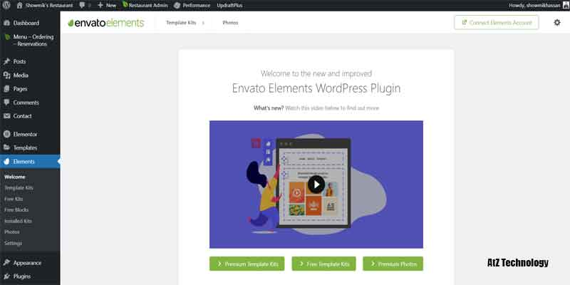 Install Envato Elements Plugin