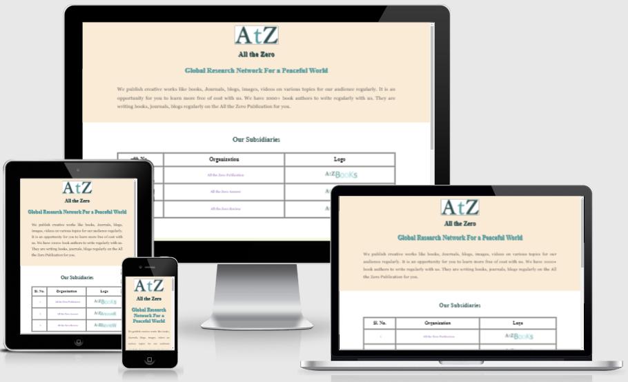 allthezero.com website design