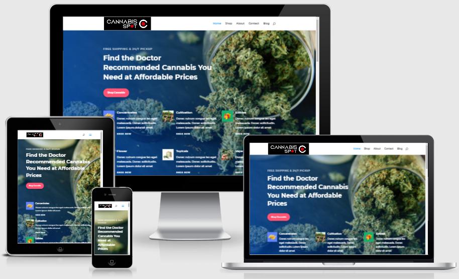 cannabisspot.ca website design