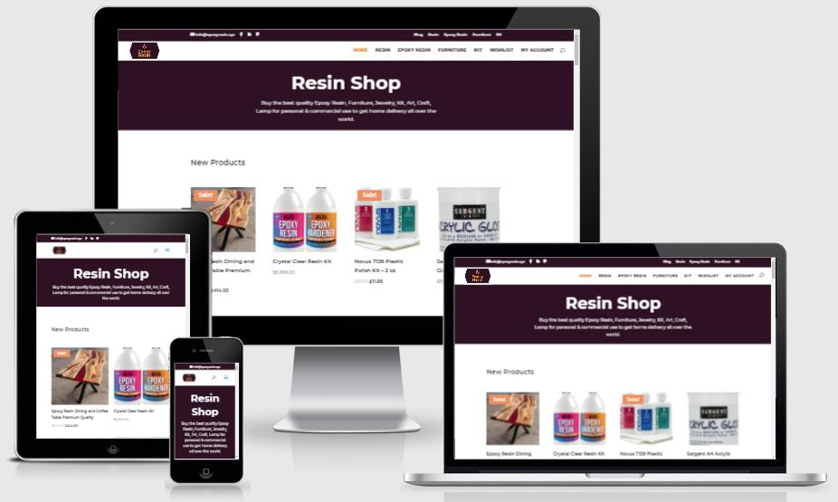 Epoxy resin website design
