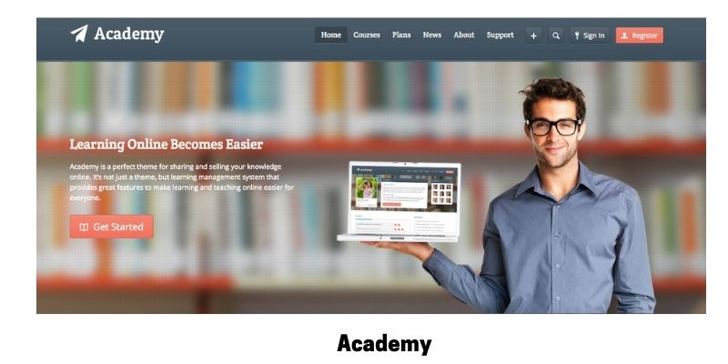 Academy: Best online courses WordPress theme for virtual classroom