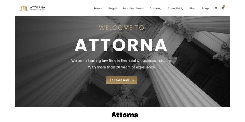 Attorna: Best WordPress Theme for Law Firm Website