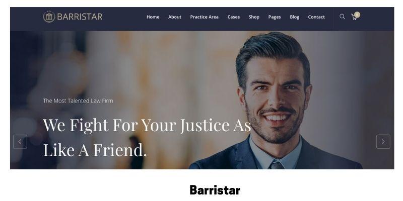 Barristar: Best WordPress Theme for Law Firm Website