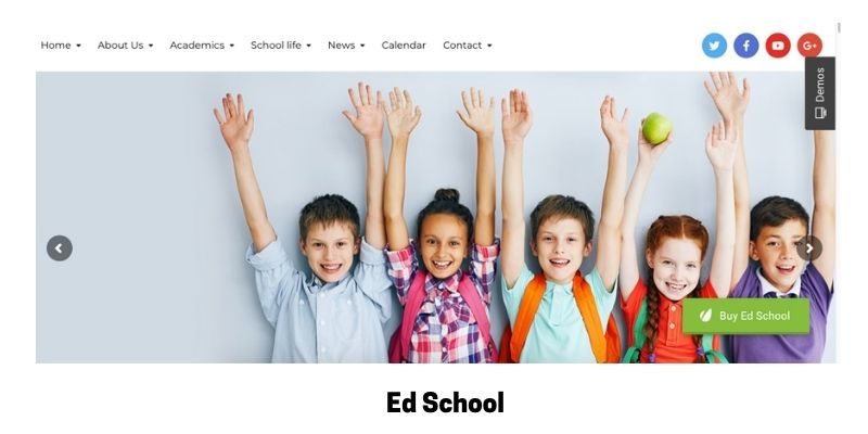 Ed School: Best Primary School WordPress Theme