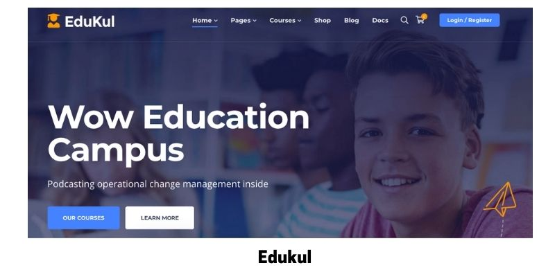 Edukul: Best online courses WordPress theme for virtual classroom