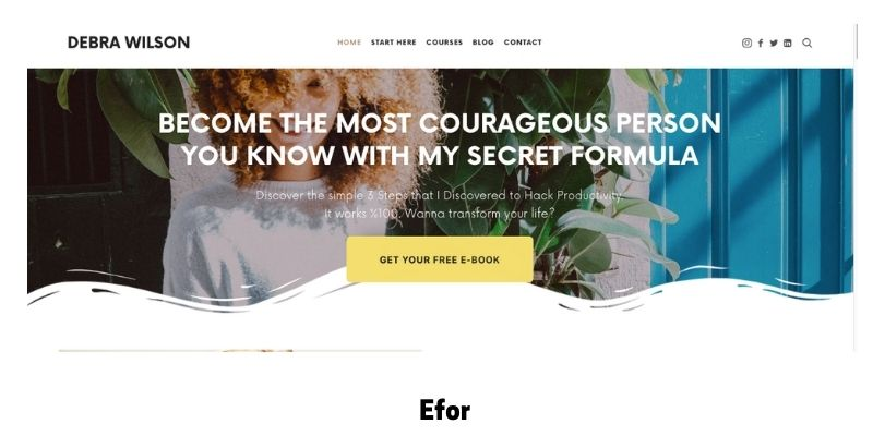 Efor: Best online courses WordPress theme for virtual classroom