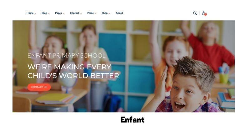 Enfant: Best Primary School WordPress Theme