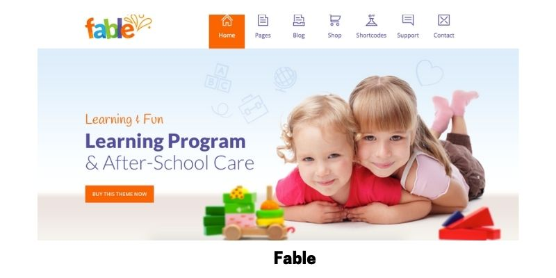 Fable: Best Primary School WordPress Theme