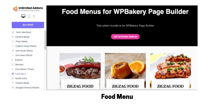 Food Menu: WordPress Restaurant Menu Plugin