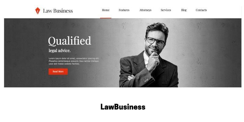 LawBusiness: Best WordPress Theme for Law Firm Website