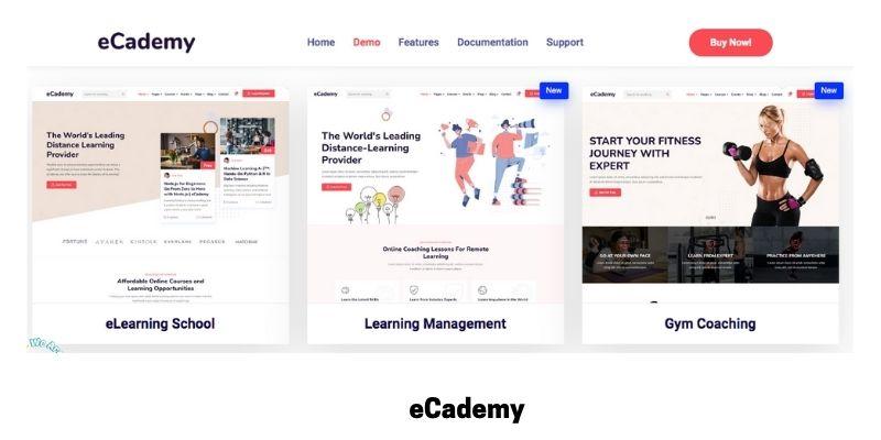 eCademy: Best online courses WordPress theme for virtual classroom