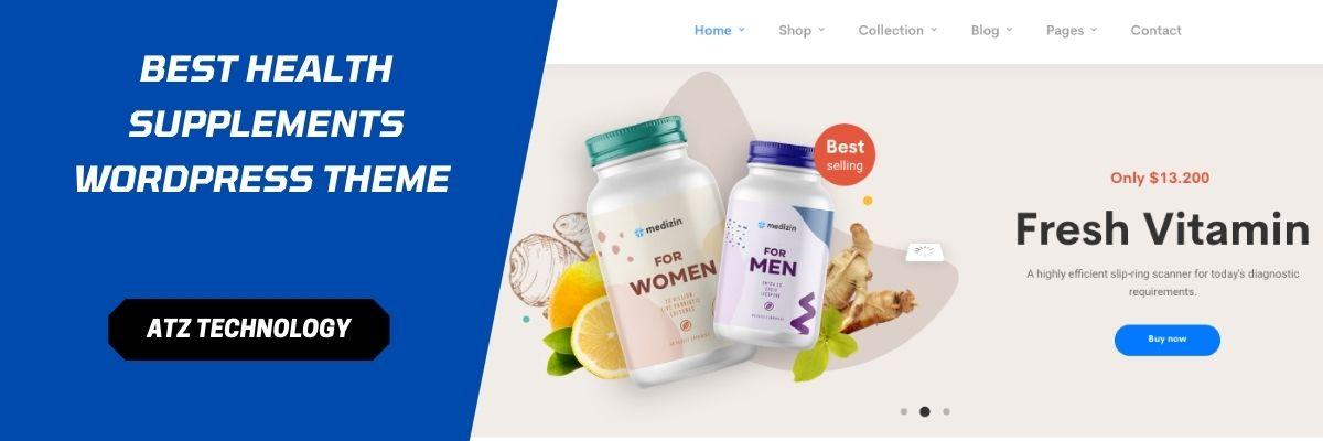 Best Health Supplements WordPress Theme in 2021