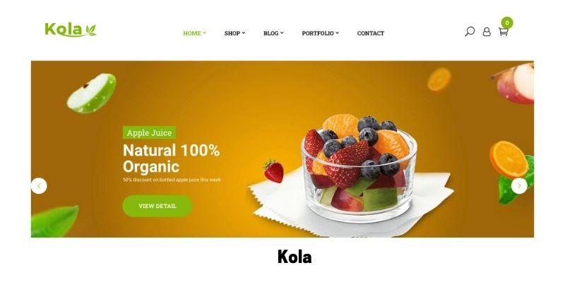 Kola: Best Health Supplements WordPress Theme