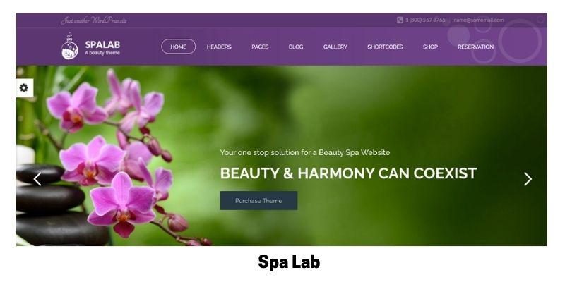 Spa Lab: Best Health Supplements WordPress Theme