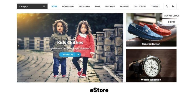 eStore: Best Health Supplements WordPress Theme