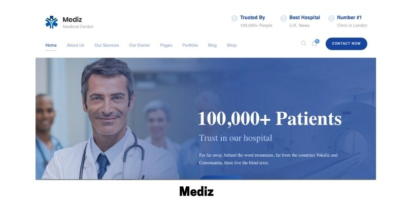 Mediz: What is the Best Medical WordPress Theme