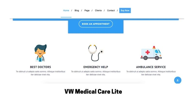 VW Medical Care Lite: What is the Best Medical WordPress Theme